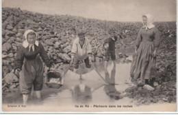 ILE DE RE : Pêcheurs Dans Les Roches - Très Bon état - Frankreich