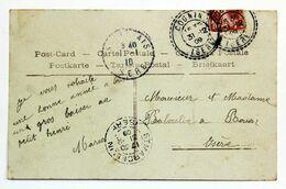 Carte Postale 1909 Cognin, Isère, Affr. 10c Type Semeuse, Tad Facteur Boitier - Storia Postale
