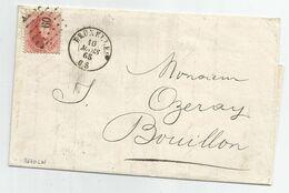 N° 16 Sur Lettre De Bruxelles à Dest. De Bouillon (c. D'arrivée Au Verso) , O  LP 60 - 1863-1864 Medallones (13/16)