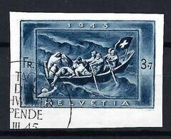 SUISSE Blocs & Feuillets 1945:  Le ZNr. W21AI, Obl. CAD PJ Forte Cote - Bloques & Hojas