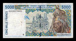 West African St. Senegal 5000 Francs 2002 Pick 713Kl T.931 BC/MBC F/VF - Senegal