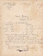SAINT PONS NARBONNE HERAULT PIERRE DAUBAL VINS COMMISSION FORFAIT ANNEE 1901 - Francia