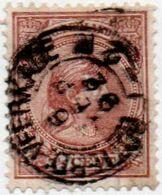 "Netherlands 1891 Wilhelmina 5 C Thinned ""kleinrond"" Postmark ""Rotterd:-veerkade"" 1 Value - 2009.0414 - Postal History"