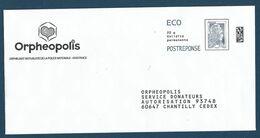 """Postréponse éco Marianne D'Yseult """"Orphéopolis"""" 60647 Chantilly, Au Dos 234768 - Pas De N° Intérieur - 2018-... Marianne L'Engagée"""