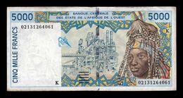 West African St. Senegal 5000 Francs 2002 Pick 713Kl T.061 BC/MBC F/VF - Senegal