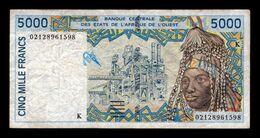 West African St. Senegal 5000 Francs 2002 Pick 713Kl T.598 BC/MBC F/VF - Senegal