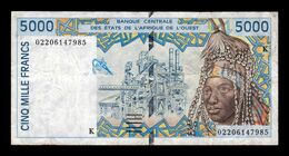 West African St. Senegal 5000 Francs 2002 Pick 713Kl T.985 BC/MBC F/VF - Senegal