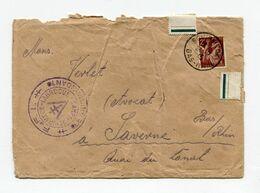 !!! LETTRE DU CAMP DE SCHIRMECK LA BROQUE DU 24/7/1945 AVEC CACHET FFI COMMANDANT DU CAMP - Marcophilie (Lettres)