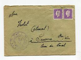 !!! LETTRE DU CAMP DE SCHIRMECK LA BROQUE DE 1945 AVEC CACHET FFI COMMANDANT DU CAMP - Marcophilie (Lettres)