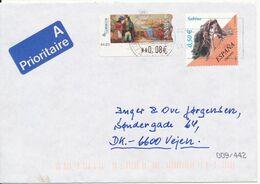 Spain Cover With ATM Frama Label + Stamp Sent To Denmark 21-3-2007 - 1931-Aujourd'hui: II. République - ....Juan Carlos I