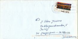 Spain Cover With ATM Frama Label Sent To Denmark - 1931-Aujourd'hui: II. République - ....Juan Carlos I
