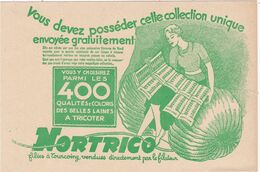 Nord : TOUCOING : Carte Publicitaire : NORTRICO : Laines à Tricoter : - Tourcoing
