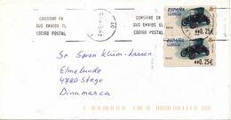 Spain Cover With ATM Frama Label Sent To Denmark 24-7-2002 - 1931-Aujourd'hui: II. République - ....Juan Carlos I