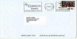 Spain Cover With ATM FRAMA Label Sent To USA Malaga 2-8-2007 - 1931-Aujourd'hui: II. République - ....Juan Carlos I