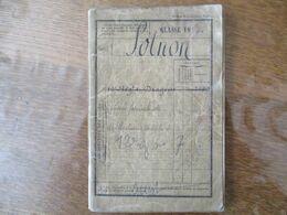 LIVRET MILITAIRE CLASSE 1894 SOLNON EUGENE SABOTIER RESIDANT A ROUGNAC - Dokumente
