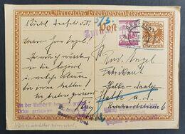"Österreich 1927, Postkarte ""Beethoven"" MiF SEEFELD Gelaufen HALLE Retour Gesendet - Covers & Documents"