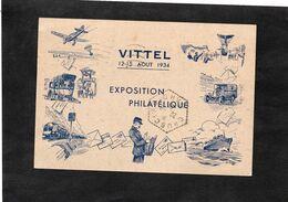 VITTEL 12-15 Aout 1934 - EXPOSITION PHILATELIQUE - Entier Postal Ayant Circulé - Cachet Hexagonal CHUSCLAN (Gard) - Cartoline Postali Ristampe (ante 1955)