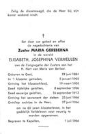 Zuster, Soeur: 1963, Geel, Kapellen, Elisabeth Vermeulen, Zusters Van Het Heilig Hart Van Maria Van Berlaar - Imágenes Religiosas
