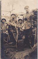 Soldats Avec Mitrailleuse Mitrailleur Carte Photo Allemande 1° Guerre - Weltkrieg 1914-18