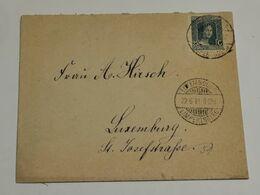 Enveloppe, Oblitéré Luxembourg 1921 Avec Timbre 25c Marie-Adélaïde - Briefe U. Dokumente