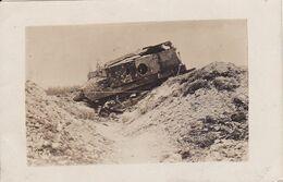 Tank Panzer Français Carte Photo Allemande 1° Guerre - War 1914-18