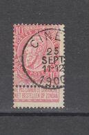 COB 58 Oblitération Centrale CINEY - 1893-1900 Thin Beard