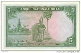 LAOS  P. 9b 5 K 1962 UNC - Laos