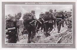 Infanterie Gebirgsjäger  Carte Photo Allemande 1° Guerre - Weltkrieg 1914-18