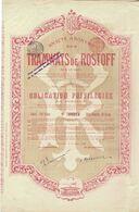- Titre Ancien - Société Anonyme Des Tramways De Rostoff Sur Le Don - Obligation De 1899 - Déco - Russia
