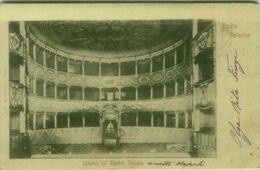 BADIA POLESINE ( ROVIGO ( INTERNO TEATRO SOCIALE - EDIZ. VIERBUCHER - 1900s (BG5507) - Rovigo