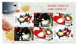 Kosovo Stamps 2020. COVID-19, Pandemic, Coronavirus, Care. Sheet MNH - Kosovo