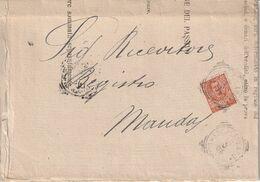Escalaplano. 1906. Annullo Tondo Riquadrato ASCALAPLANO (CAGLIARI) , Su Lettera Affrancata - Marcophilie