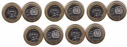 Dominican Republic - 5 Pcs X 5 Pesos 2008 UNC Lemberg-Zp - Dominicana