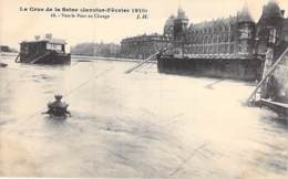75 - PARIS 01° - INONDATIONS De PARIS ( Janvier 1910 ) Vers Le Pont Aux Changes - CPA Seine - De Overstroming Van 1910