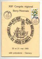 Livret XXIe Congrès Régional Berry-Nivernais Congrès Philatélique Clamecy En 1995 - Avec Timbre Sur La Couverture - Stamps
