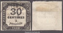 30c Taxe Carré Oblitéré Aspect TB (Dallay N° 6, Cote 160€) - Postage Due