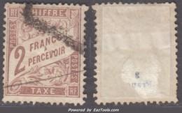2Fr Duval Marron Oblitéré TB (Y&T N° 26, Cote 200€) - 1859-1955 Used