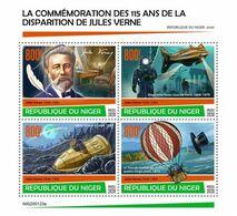 Niger 2020, J. Verne, Diving, Submarine, Baloon, 4val In BF - Tauchen
