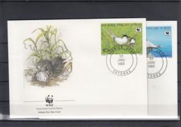 WWF Issue Michel Cat.No. Benin 476/479 Birds FDC - Maximumkaarten