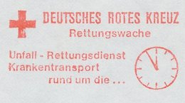 Meter Cut Germany 1987 Red Cross Germany - Clock - Croce Rossa