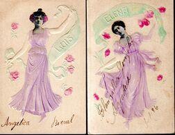 LOT DE 2 CPA 1906 - ORIGINE = PAYS D'AMERIQUE LATINE - - Mujeres