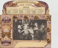 PRENTBRIEFKAARTEN    KALENDER   JAN STEEN   1902    OCT. NOV. DEC.        CPA  PRECURSEUR - Zonder Classificatie