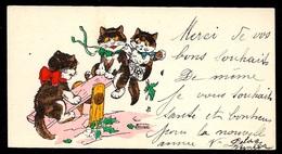 Rare CPA Mignonnette GERMAINE BOURET Première Période (Chats Sur Une Balançoire) ** Chat Cat Cats Illustrateur - Bouret, Germaine