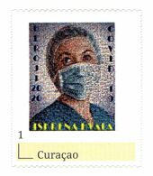 CURACAO 2020 EPIDEMIC COVID-19 CORONAVIRUS THANKS TO MEDICAL HEROES ** PERSONALIZED STAMP ** MNH - Krankheiten