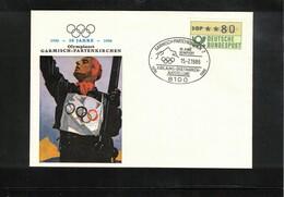 Germany / Deutschland 1986 50 Years Of Olympic Games In Garmisch-Partenkirchen Interesting Letter - Winter 1936: Garmisch-Partenkirchen