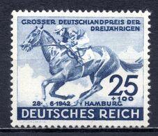 1942 REICH BLUE BAND HORSE RACES MICHEL: 814 MNH ** - Nuevos