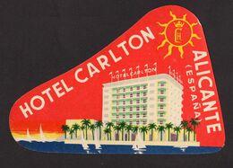 España - Hotel Carlton - Alicante - A1RR2 - Tovaglioli Bar-caffè-ristoranti