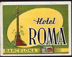 España - Hotel Roma - Barcelona - A1RR2 - Tovaglioli Bar-caffè-ristoranti