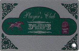 Delaware Park Slots Stanton, DE - BLANK Slot Card - No Silver Circle Around Punch Hole - Casinokarten