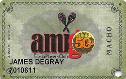 Fiesta Casino Las Vegas, NV - Slot Card Copyright 2009 - 50 Plus Senior Sticker - Casinokarten